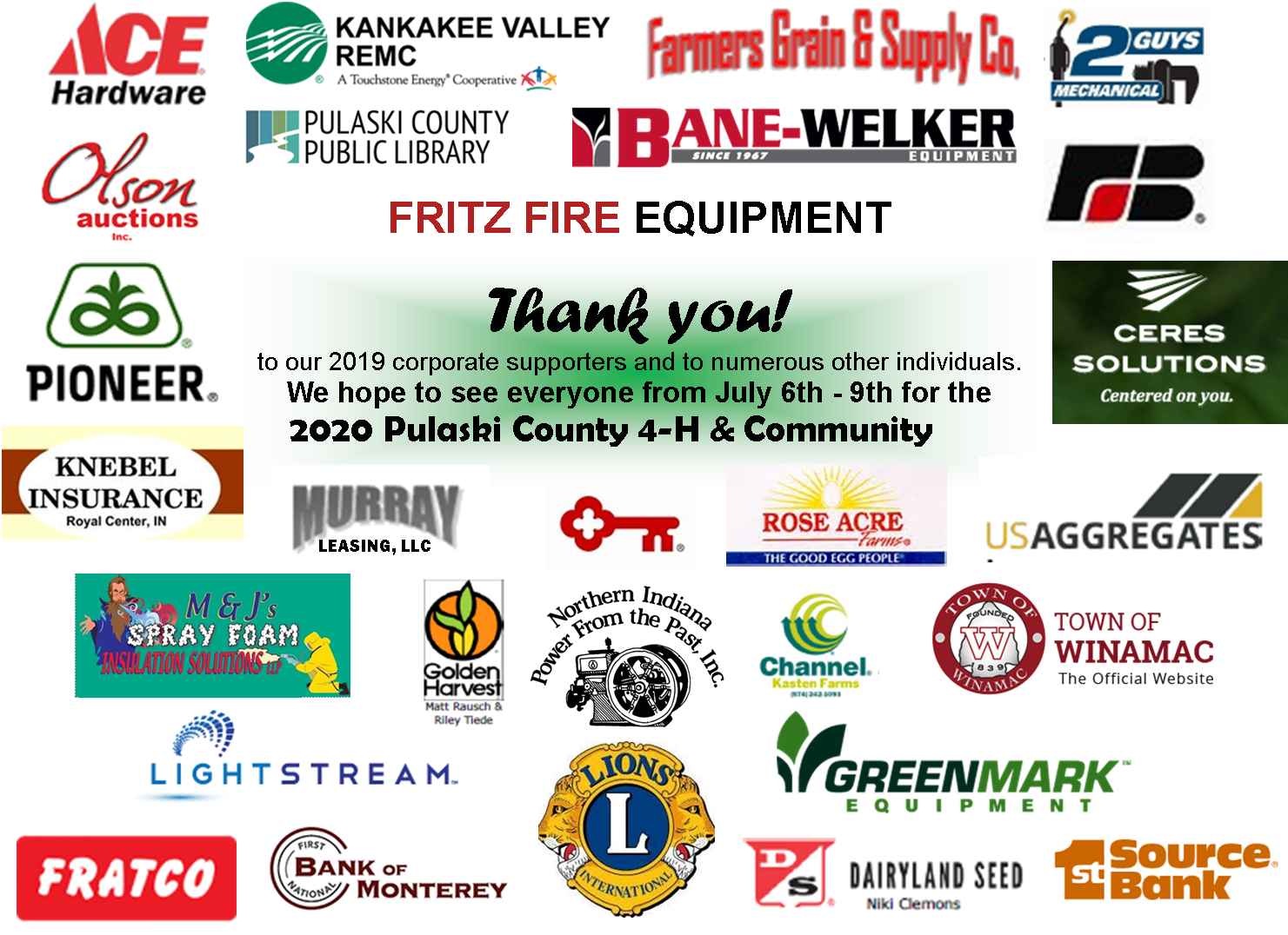 Pulaski County Fair 2020.2019 Pulaski County 4 H Community Fair